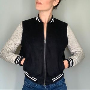 S LIKE NEW Bomber Jack with Sparkle Sleeves